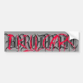 BORODRIFT - Blood Bumper Sticker