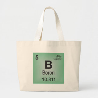 Boron Individual Element of the Periodic Table Large Tote Bag