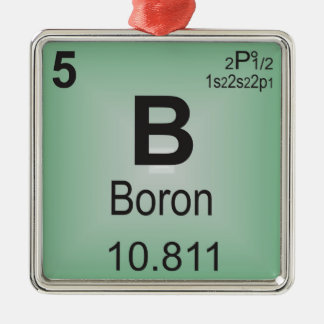 Boron Individual Element of the Periodic Table Metal Ornament