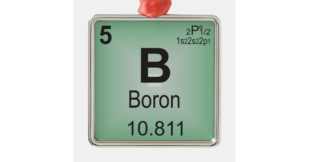 boron individual element of the periodic table metal