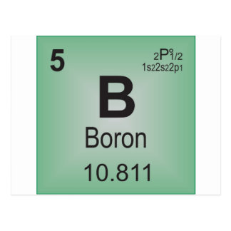 Boron Individual Element of the Periodic Table Postcard