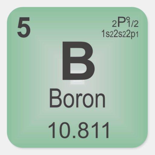 Boron Individual Element Of The Periodic Table Square