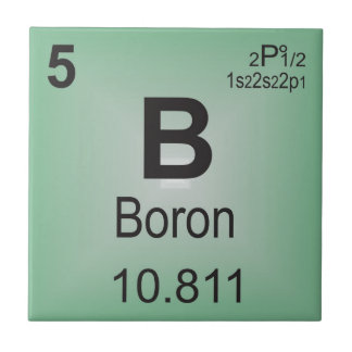 Boron Individual Element of the Periodic Table Tile
