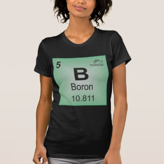 Boron Individual Element of the Periodic Table Tee Shirt