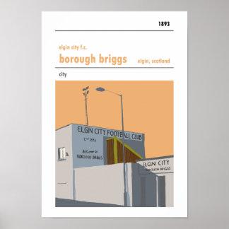 Borough Briggs, Elgin. Stadium Print