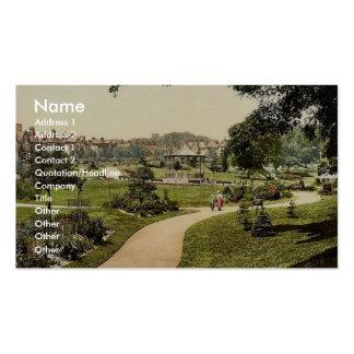 Borough Gardens from south, Dorchester, England ra Business Cards
