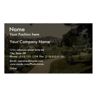 Borough Gardens from south, Dorchester, England ra Business Card