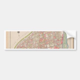 Borough of the Bronx map Bumper Sticker