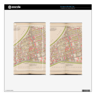 Borough of the Bronx map Kindle Fire Skin