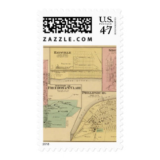 Boroughs of Freedom and St Clair with Philippsburg Postage