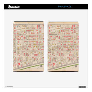 Borought of the Bronx map Kindle Fire Decal