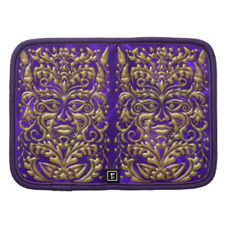 borrachín púrpura del satén del oro 3D del damasco Planificadores