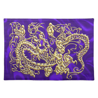 Borrachín púrpura Placemat del satén del dragón de Mantel