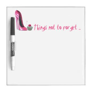 Borrado seco rosado BO de la magdalena del zapato  Pizarras Blancas De Calidad