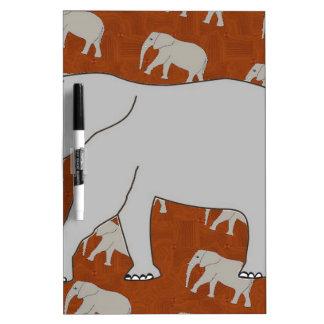 Borrado seco Whiteboard del elefante elegante Pizarras Blancas De Calidad