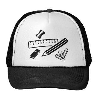 Borrador del clip de papel de la regla del lápiz gorras de camionero