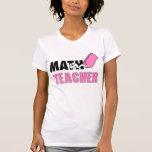 Borrador divertido del rosa del profesor de matemá camiseta