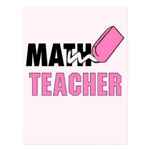 Borrador divertido del rosa del profesor de postales