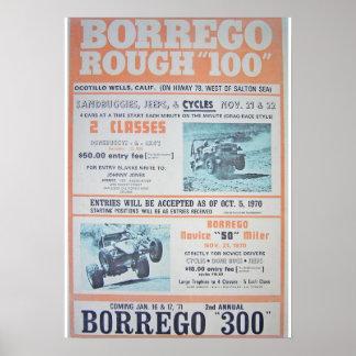 Borrego Rough 100 Race Poster
