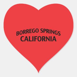 Borrego Springs California Pegatinas Corazon Personalizadas