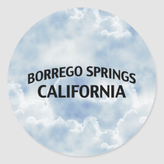 Borrego Springs California Pegatinas Redondas