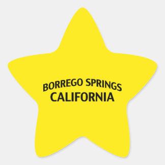 Borrego Springs California Calcomanía Cuadrada Personalizada