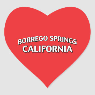 Borrego Springs California Pegatina Corazón Personalizadas