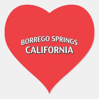 Borrego Springs California Pegatina En Forma De Corazón