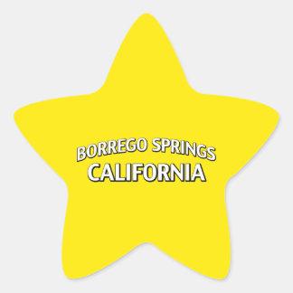Borrego Springs California Pegatina En Forma De Estrella