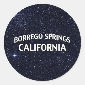 Borrego Springs California Pegatina Redonda