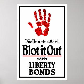 Bórrelo hacia fuera con los enlaces de la libertad póster