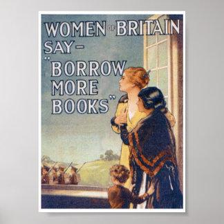 Borrow more books poster