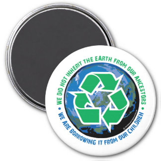 Borrowed Earth 3 Inch Round Magnet