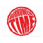 Borrowed Time circle stamp hanko Postcard