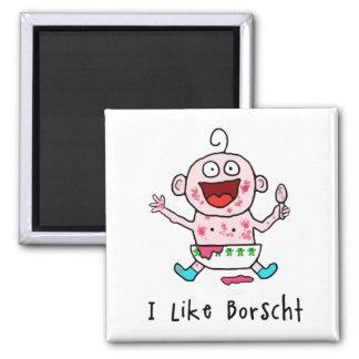 Borscht Baby Magnet