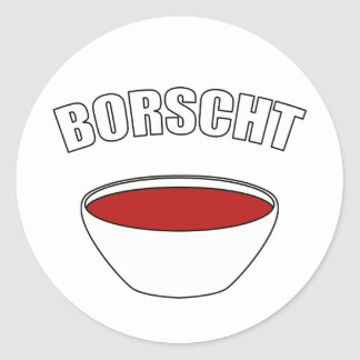 Borscht Classic Round Sticker