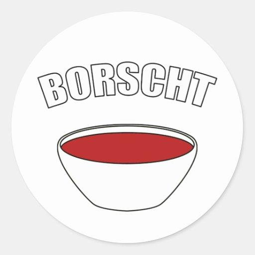 Borscht Etiquetas Redondas