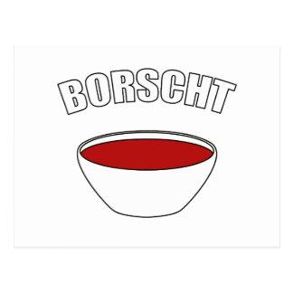 Borscht Tarjeta Postal