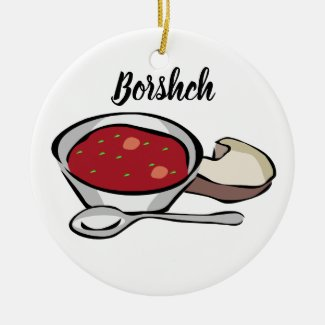 Borshch Ceramic Christmas Tree Ornament