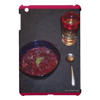 Borshch y vodka ucranianos de la comida del alma