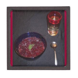 Borshch y vodka ucranianos de la comida del alma cajas de regalo de calidad