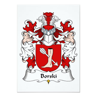 Borski Family Crest Card