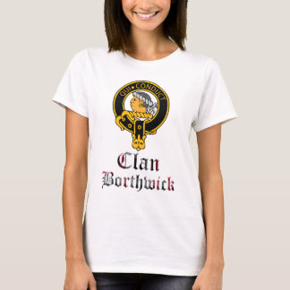 Borthwick Scottish Crest Tartan Clan Name Clothes T-Shirt