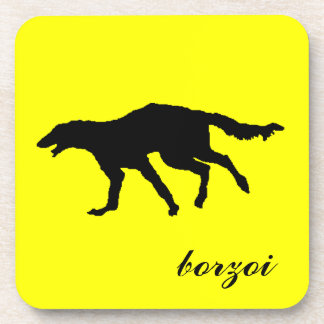 BORZOI BEVERAGE COASTER