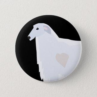 Borzoi Breed Template Design Button