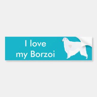 Borzoi Breed Template Design Car Bumper Sticker