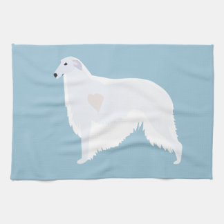 Borzoi Breed Template Design Towels
