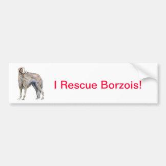 Borzoi Car Bumper Sticker