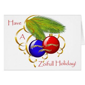 BORZOI CHRISTMAS CARD