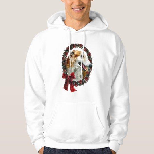 Borzoi Christmas Gifts Hoodie